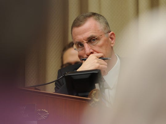 Rep. Tim Murphy (R-PA) chairs a Congressional hearing on the shortage of beds for in-patient psychiatric care on March 26, 2014.