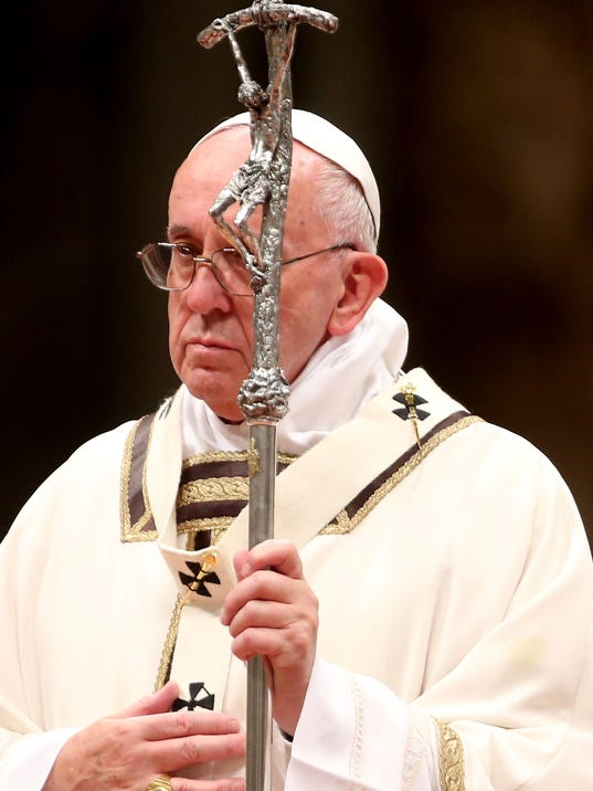 Pope Francis Attends the Christmas Night Mass