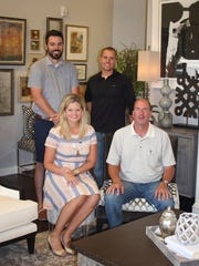 Three businesses have opened in a Clive retail building. Sharing the space are from top left, Chad Briles of The Stone Shop, Rick Ponstein, owner of Minnesota Cabinets, Mark Main, Minnesota Cabinets, and Meghan Blum, Meghan Blum Interiors.