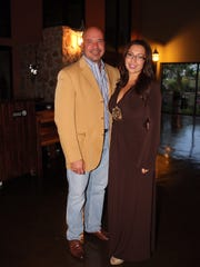 Dr. Helson Pacheco, left, and  Vanessa Perez.