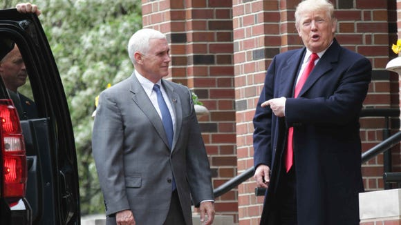 Gov. Mike Pence and Donald Trump met April 20 at governor's residence ahead of the May 3 primary.