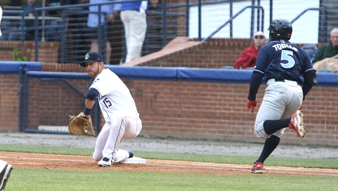 Brian Mundell hit his 5th double on Wednesday against Hickory.