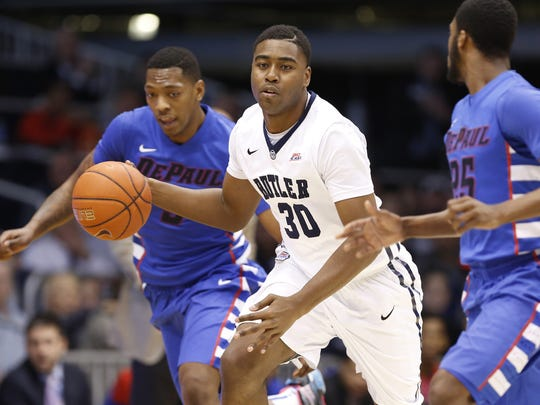 FILE – Kelan Martin goes from option No. 3 to the lead dog for Butler.