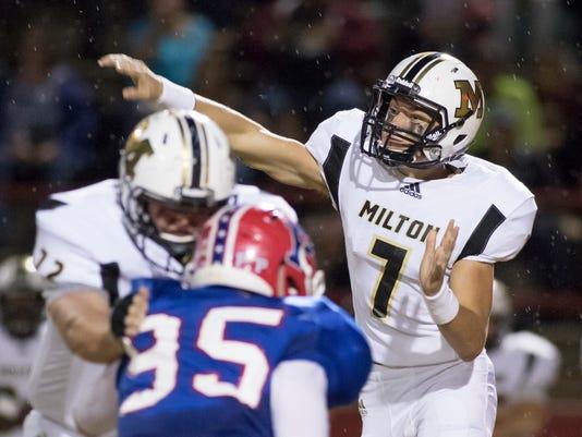 Milton vs Pace football