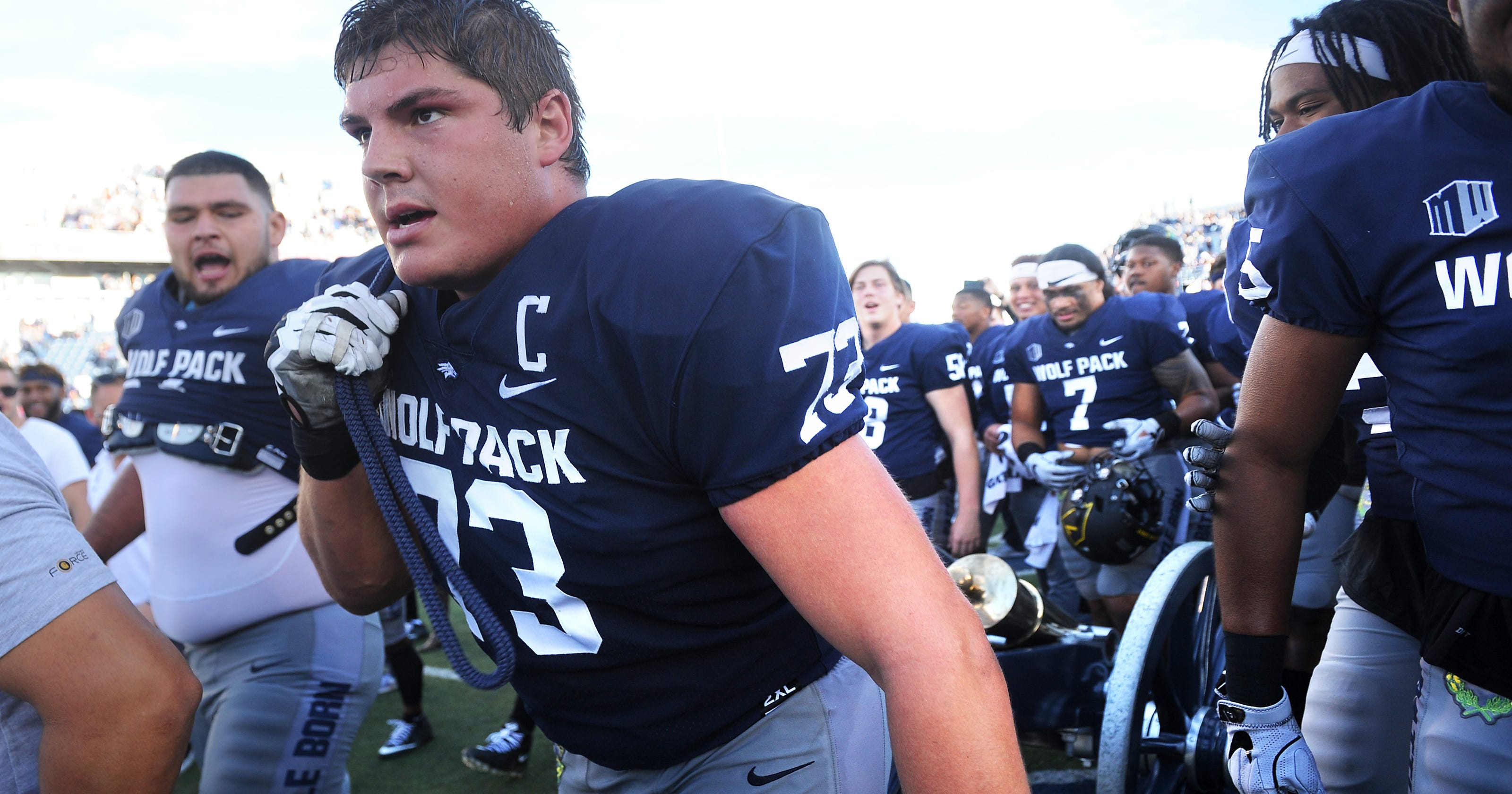 new style dc092 5cccd Nevada football's Austin Corbett's unlikely rise puts him on ...
