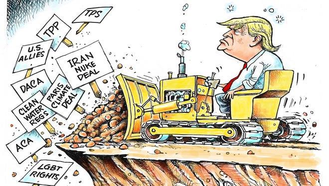 Trump bulldozer