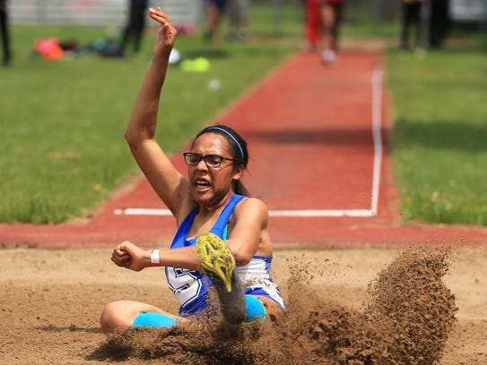 Salem's Haven Essien was third in the long jump and