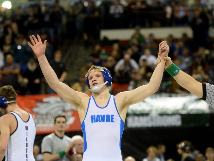 Havre's Parker Filius won his fourth state title by