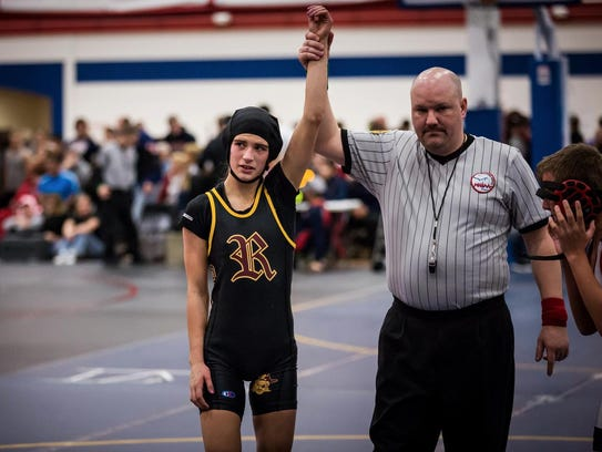 Marina Goocher competed against boys at Riverview High