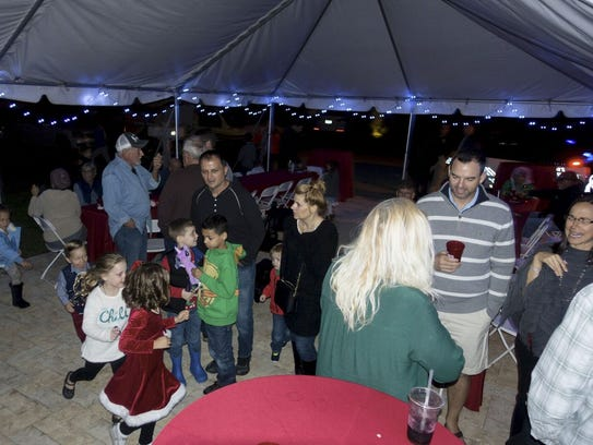 Tim and Brittany Holdy hosted a toy drive at their