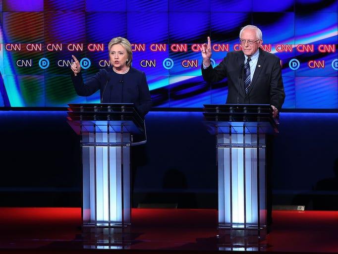 Democratic presidential candidate Senator Bernie Sanders