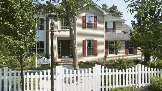 Shown here is the Ashton model of home in Ocean Acres, Barnegat, built by the Walters Group.