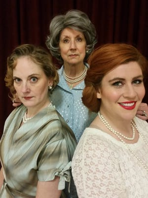 """Mia Seitz, Rena Cherry Brown and Carrie Cooke Ketterman in Bunbury Theatre's production of Edward Albee's Pulitzer Prize-winning play """"Three Tall Women."""""""