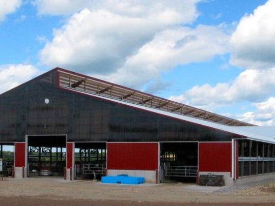 Fietzer Dairy's new freestall barn is more than 400 feet long and can house 360 milk cows.