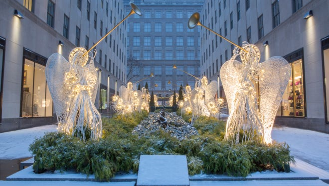 American Christmas is responsible for producing the heralding angels seen at Rockefeller Center.