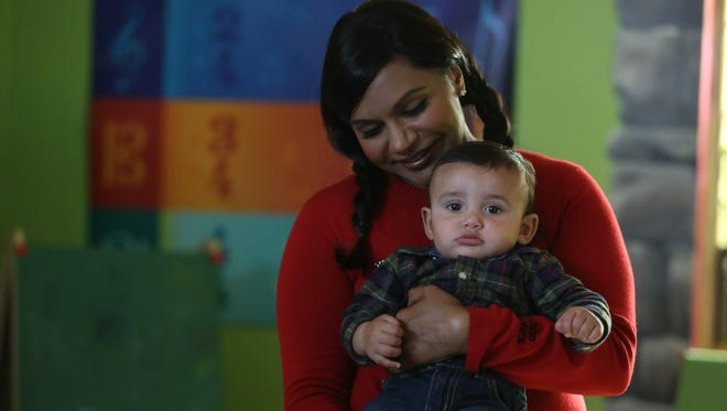 """Mindy Kaling and Baby Leo in 'The Mindy Project' episode """"Jody Kimball is My Husband"""""""