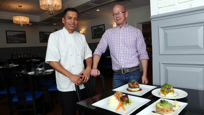 Chef Felipe Velazquez and Michael Madden are co-owners of Vela Kitchen, a new American restaurant in Pleasantville, May 25, 2017.