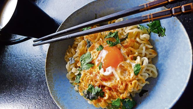 I think a nest of ramen noodles looks pretty good. And tastes just as good.