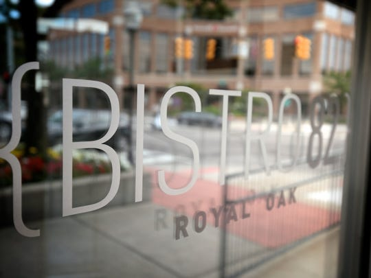 Bistro 82 is seen during the Detroit Free Press Top 10 Takeover dinner series at the Bistro 82 in Royal Oak on Monday, August 10, 2015.