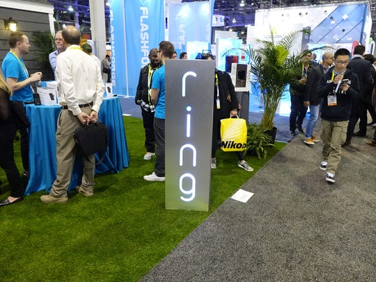 The Ring booth at CES