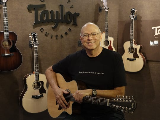 Taylor Guitars founder Bob Taylor at the NAMM Show.