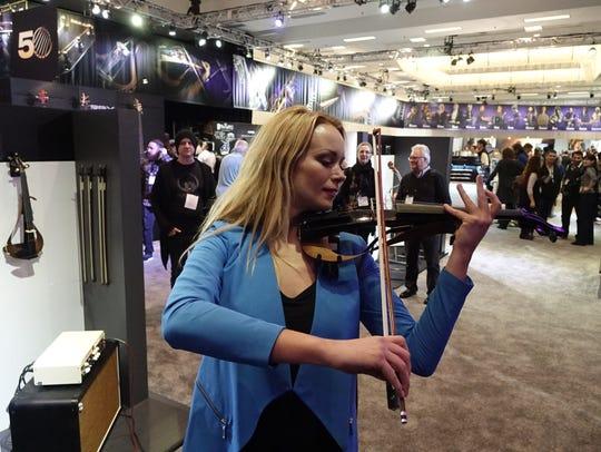 Caroline Campbell plays Yamaha's new Electric Violin