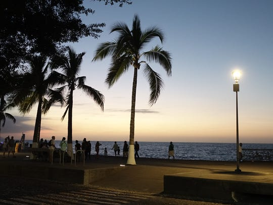 Nightfall at the Malecon in Puerto Vallarta