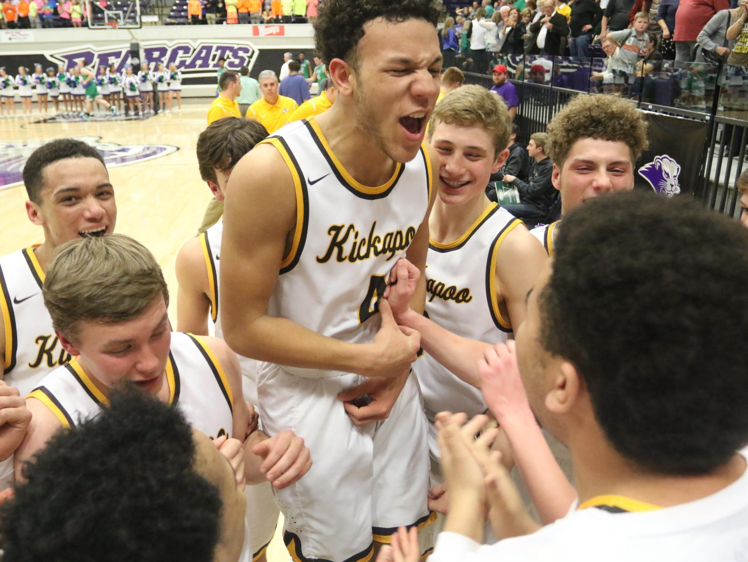 The Kickapoo boys basketball team placed second to Chaminade in the 2015 Class 5 basketball playoffs