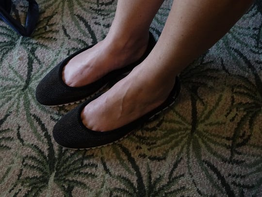Kristina Montague from the Jump Fund is wearing shoes
