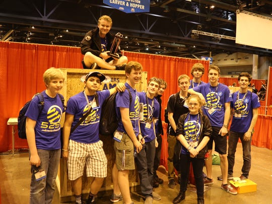 Members of Trumansburg robotics team Team 5254: HYPE made it to the divisional finals at the FIRST Championships in St. Louis.