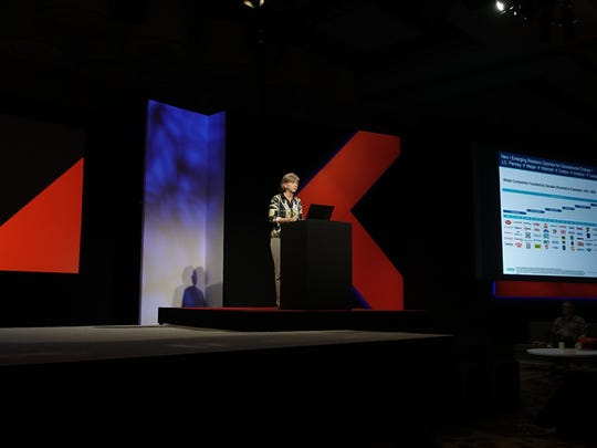 Mary Meeker speaks to Code conference
