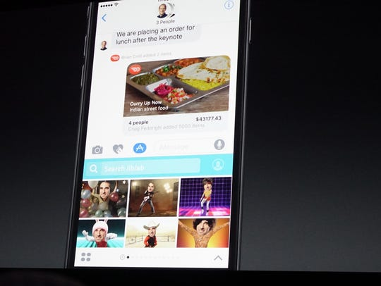 Apple previewed the new IOS 10 at the WWDC conference