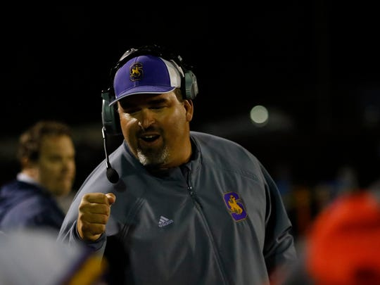 Salinas Cowboys football coach Steve Zenk.
