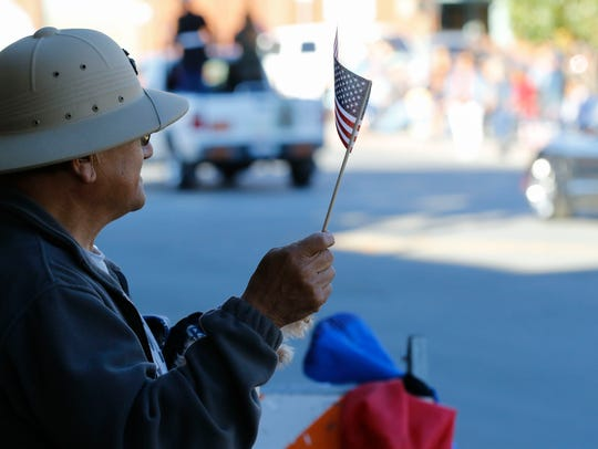 The seventh annual Veterans Day Parade makes its way