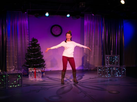 """Maria Buchanan stars in the one-woman show """"The 12 Dates of Christmas"""" at NC Stage Co."""