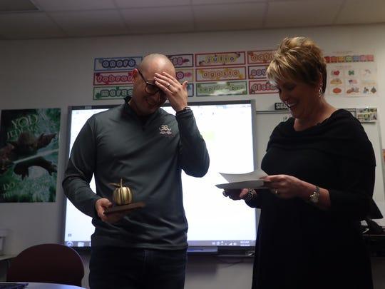 Riverdale High School Spanish teacher Matthew Bourbina