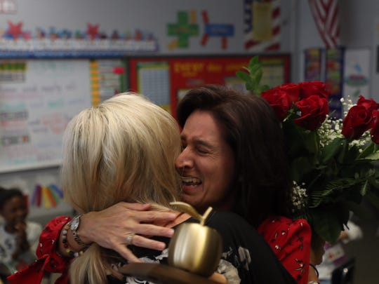 Edison Park Elementary School teacher Maria Rose is a Golden Apple winner on March 9, 2018.
