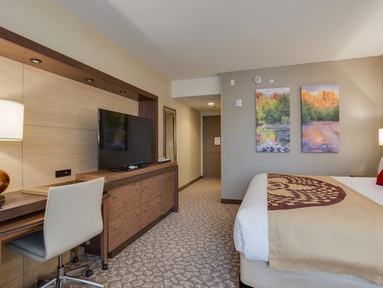 The new hotel tower at Cliff Castle Casino offers comfortable,