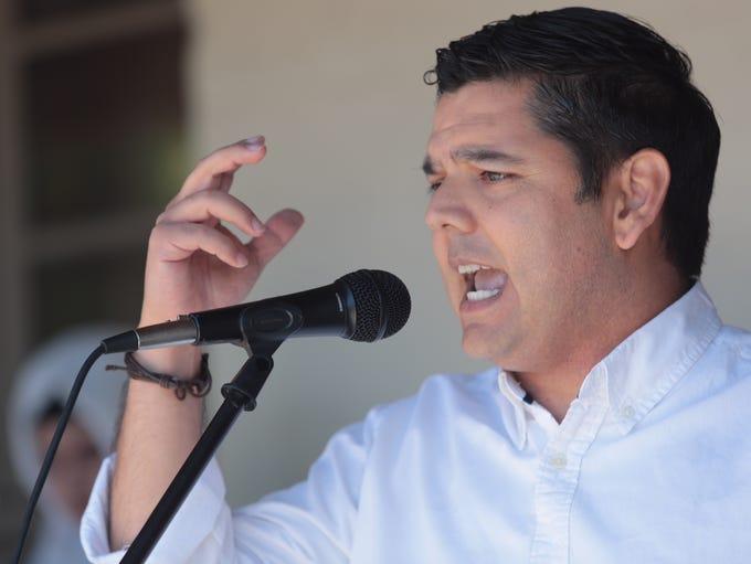 U.S. Rep. Raul Ruiz, D-Palm Desert speaks Saturday
