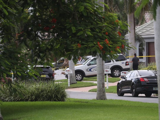 Cape Coral police have roped off a home with crime