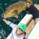 Watch: Milton fireman battles 400-pound grouper