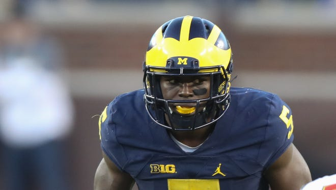 S Jabrill Peppers. Projected round: 1-2. The draft's biggest mystery, he is being burdened by his unselfishness, playing 15 different positions at U-M. Those who watched him intently understand his skill set, which he can apply in different places, especially as a return man and in-the-box safety. My guess is someone figures he's worth the risk in Round 1, not wanting to be burned by waiting. All experts agree a team needs to have a plan for him.