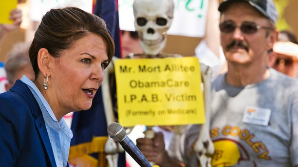 Kelli Ward, shown here in a 2013 photo, is a Lake Havasu City Republican who is challenging incumbent U.S. Sen. John McCain, R-Ariz., in the state's 2016 Republican primary.