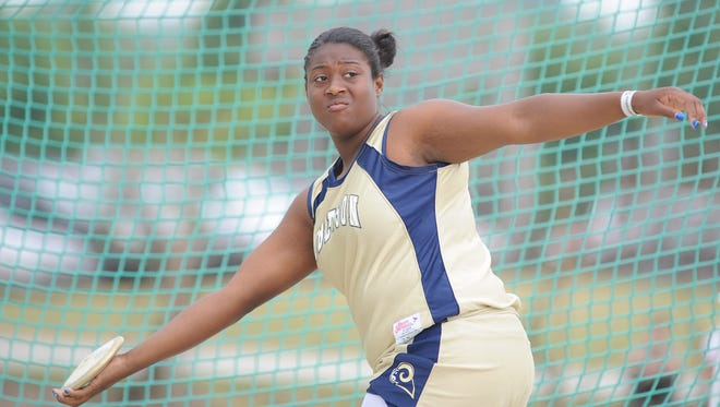 Roberson graduate SeQuoia Watkins won five state championships in her high school track career.