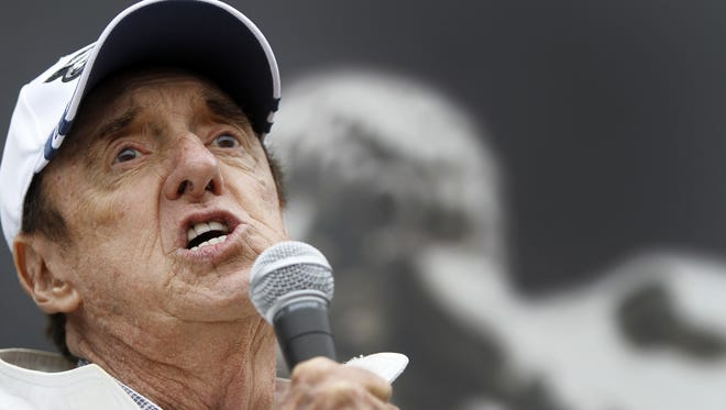 """Jim Nabors will sing """"Back Home Again in Indiana"""" for the last time at the 98th running of the Indianapolis 500, at the Indianapolis Motor Speedway."""