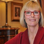 State auditor Suzanne Crouch and Lt. Gov. Eric Holcomb report on Indiana finances.