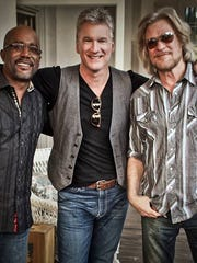 """Darius Rucker, Eliot Lewis and Daryl Hall. Rucker has performed on """"Live From Daryl's House, """" the internet and cable television music program that is hosted by Hall and features Lewis."""