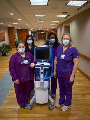Pardee UNC Health Care recently received a gift of three ventilators from Dogwood Health Trust.