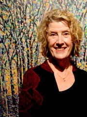 Louisiana Landscapes artist Mary Louise Porter at the Artspace opening reception.
