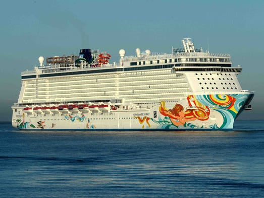 Norwegian Cruise Line's newest ship, the 4,028-passenger Norwegian Getaway, set sail with passengers for the first time on Jan. 11, 2014.